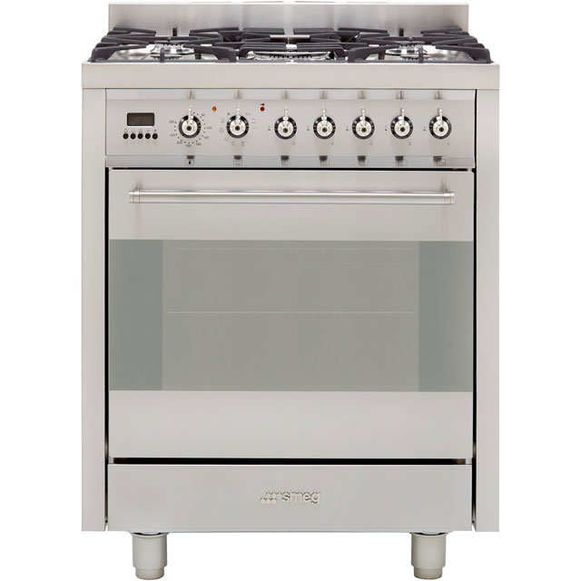 Smeg Classic C7GPX8 70cm Dual Fuel Range Cooker - Stainless Steel - A Rated - C7GPX8_SS - 1