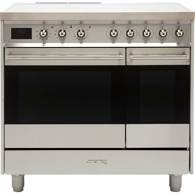 Smeg Classic C92IPX9 90cm Electric Range Cooker with Induction Hob - Stainless Steel - A/A Rated