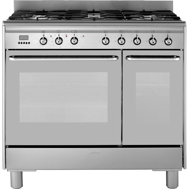Smeg 90cm Dual Fuel Range Cooker - Stainless Steel - A/A Rated