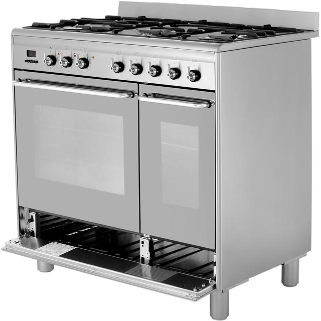 Smeg CG92PX9 90cm Dual Fuel Range Cooker - Stainless Steel - CG92PX9_SS - 4