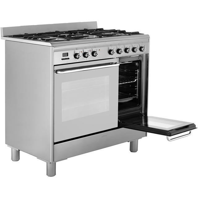 Smeg CG92PX9 90cm Dual Fuel Range Cooker - Stainless Steel - CG92PX9_SS - 5
