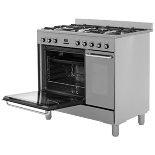 Smeg CG92X9 Dual Fuel Range Cooker - Stainless Steel - CG92X9_SS - 2