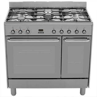 Smeg CG92X9 Dual Fuel Range Cooker - Stainless Steel - CG92X9_SS - 4