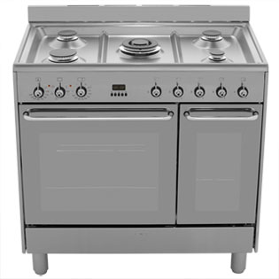 Smeg CG92X9 Dual Fuel Range Cooker - Stainless Steel - CG92X9_SS - 5
