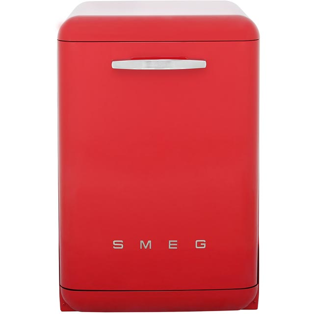Smeg 50s Retro Free Standing Dishwasher in Red