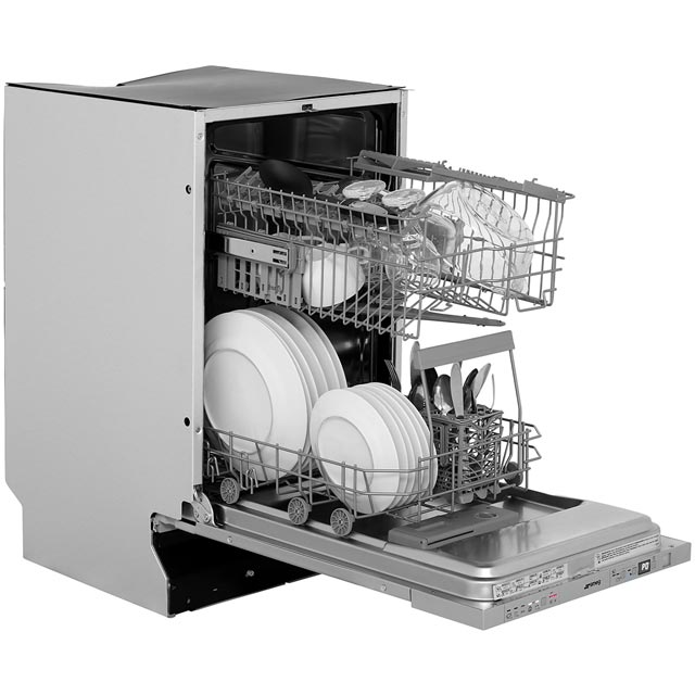 Smeg DI410T Built In Slimline Dishwasher - Stainless Steel - DI410T_SS - 5