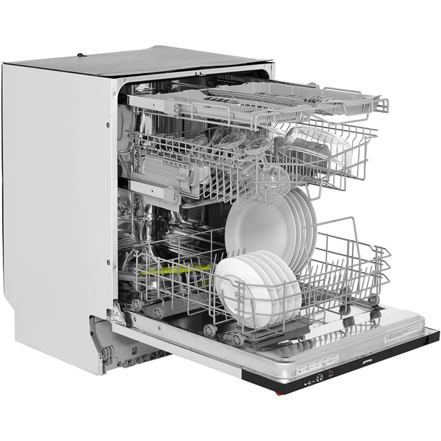 Smeg DI613AE Built In Standard Dishwasher - Black - DI613AE_BK - 5