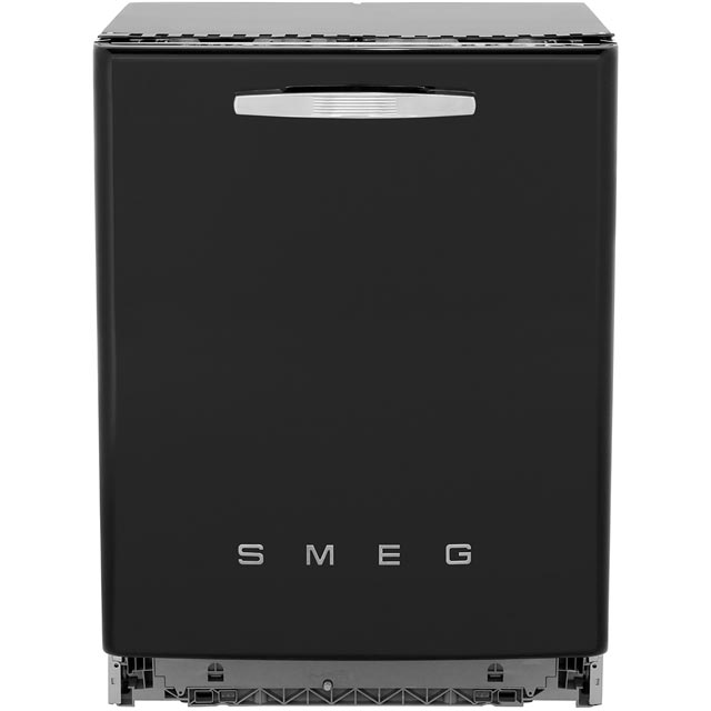 Smeg 50's Retro DI6FABBL Fully Integrated Standard Dishwasher - Black Control Panel with Fixed Door Fixing Kit - A+++ Rated - DI6FABBL_BK - 1