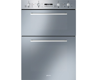 Smeg Cucina DOSF44X Built In Double Oven - Stainless Steel - A/A Rated - DOSF44X_SS - 1