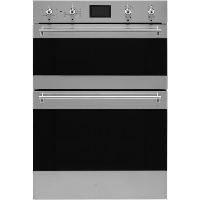 Smeg Classic DOSF6390X Built In Double Oven - Stainless Steel - A/A Rated - DOSF6390X_SS - 1