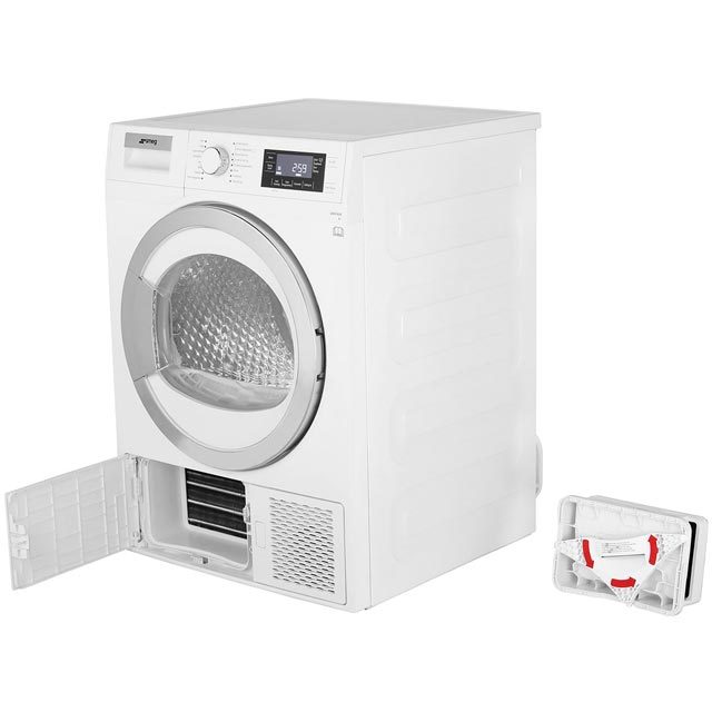 Smeg DRF81AUK 8Kg Heat Pump Tumble Dryer - White - A+ Rated - DRF81AUK_WH - 4