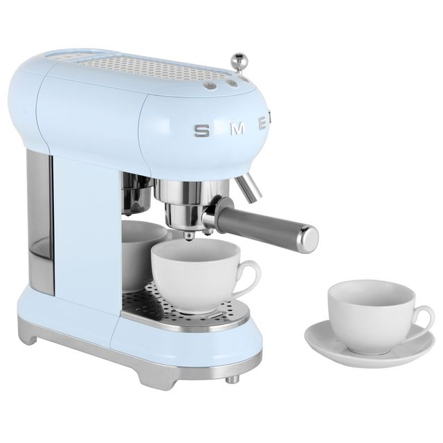 Smeg ECF01PBUK Espresso Coffee Machine - Pastel Blue