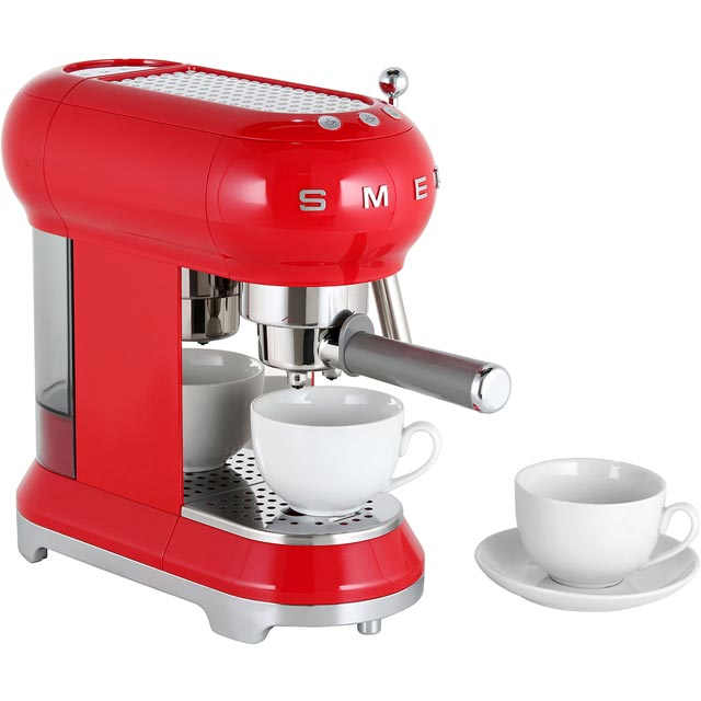 Smeg ECF01RDUK Espresso Coffee Machine - Red
