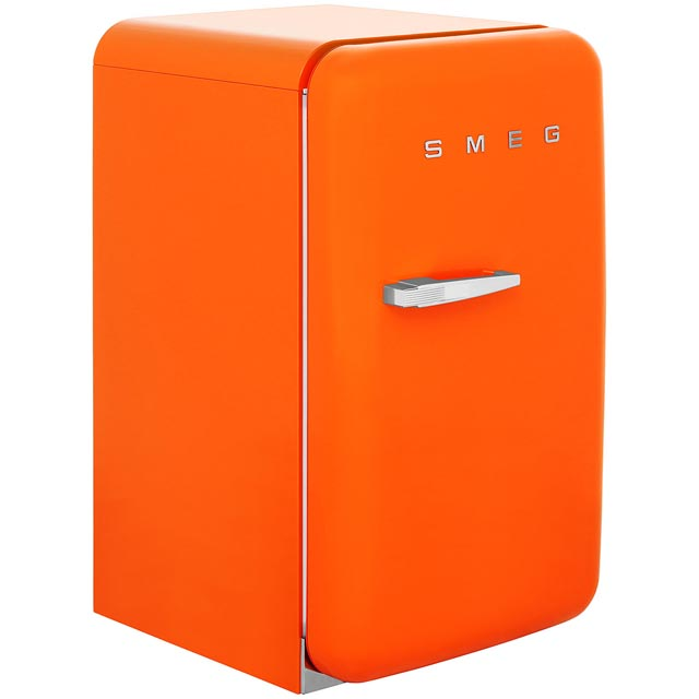 Smeg FAB10RO Fridge with Ice Box - Orange - A+ Rated - FAB10RO_OR - 1