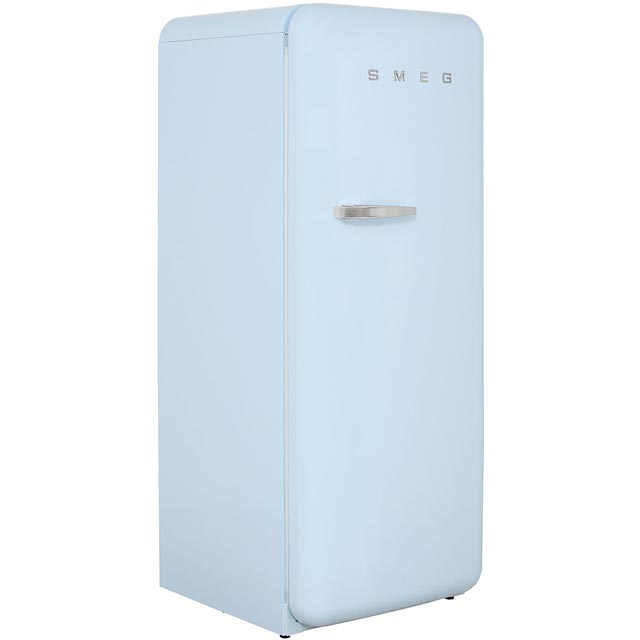 Smeg Right Hand Hinge FAB28QAZ1 Fridge with Ice Box - Pastel Blue - A++ Rated