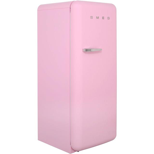 Smeg Right Hand Hinge FAB28QRO1 Fridge with Ice Box - Pink - A++ Rated