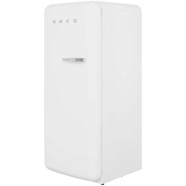 Smeg Left Hand Hinge FAB28YB1 Fridge with Ice Box - White - A++ Rated