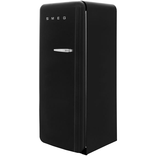 Smeg Left Hand Hinge FAB28YNE1 Fridge with Ice Box - Black - A++ Rated - FAB28YNE1_BK - 1