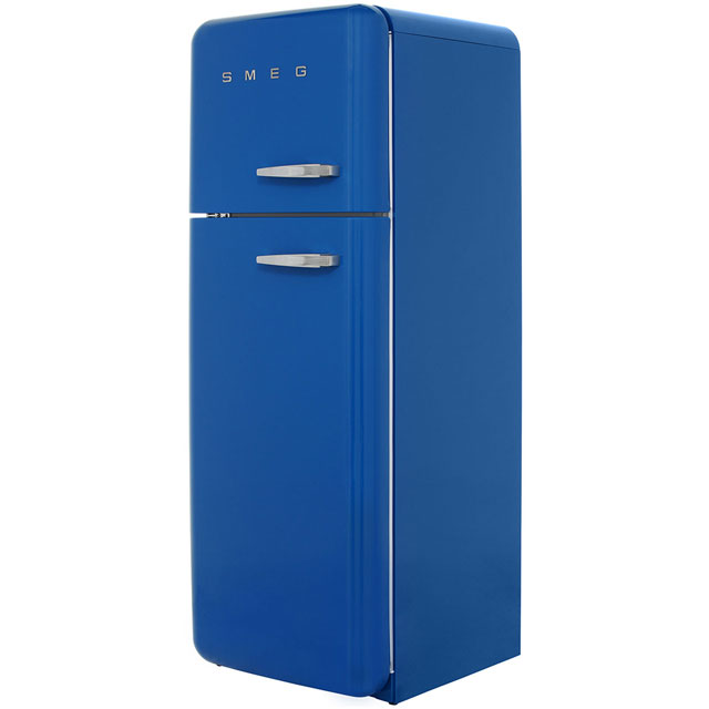 Smeg Left Hand Hinge Free Standing Fridge Freezer in Blue