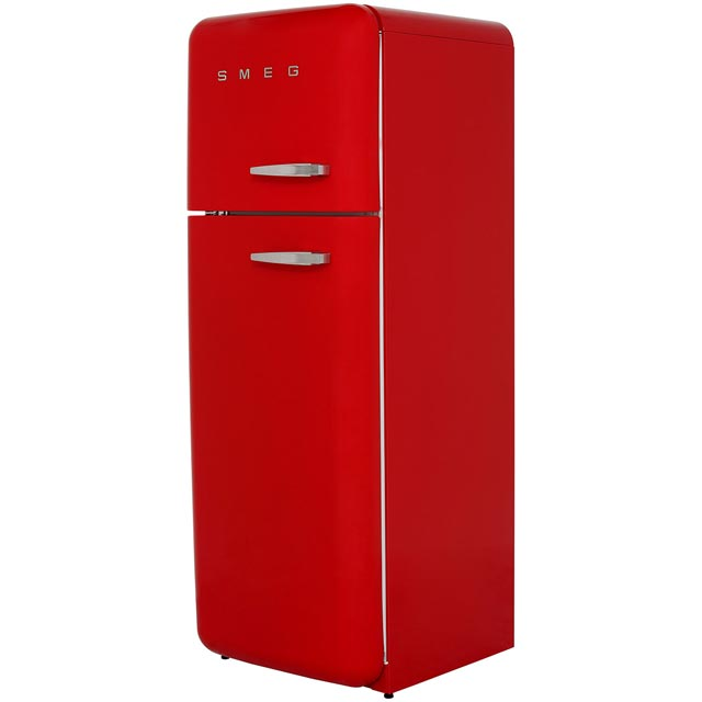 Smeg Left Hand Hinge 70/30 Fridge Freezer - Red - A++ Rated