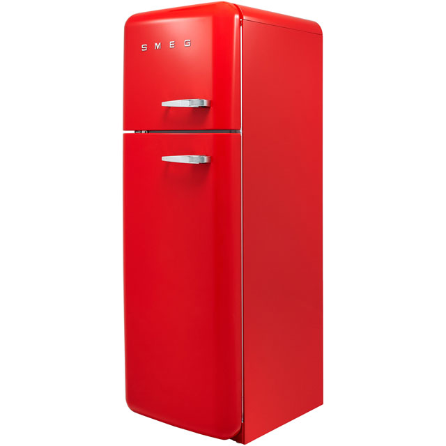 Smeg Left Hand Hinge FAB30LRD3UK 70/30 Fridge Freezer - Red - A+++ Rated - FAB30LRD3UK_RD - 1