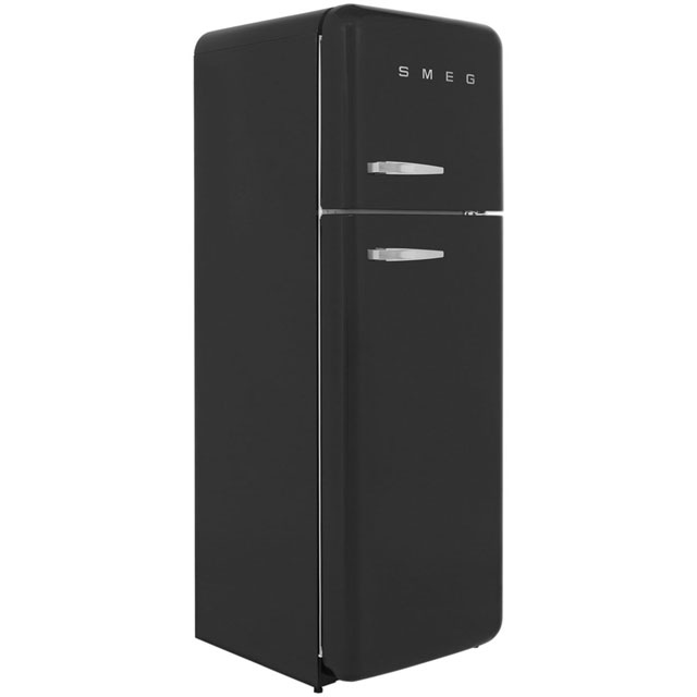 Smeg Right Hand Hinge 70/30 Fridge Freezer - Black - A++ Rated