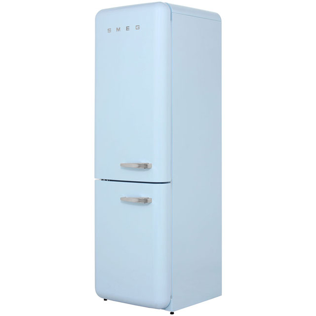 Smeg Left Hand Hinge FAB32LNA 60/40 Frost Free Fridge Freezer - Pastel Blue - A++ Rated