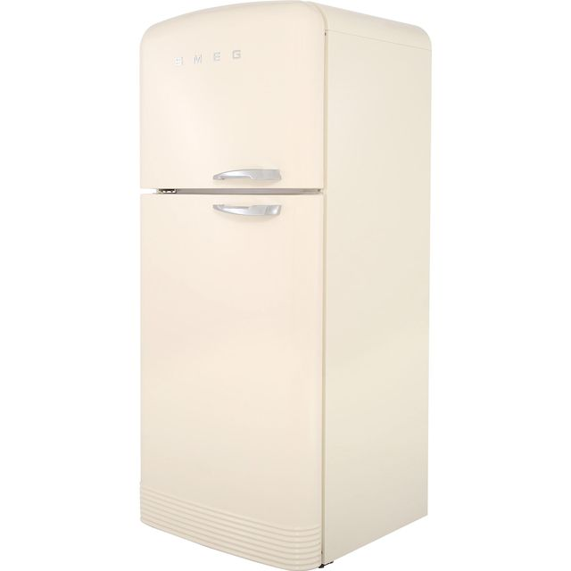 Smeg Left Hand Hinge 80/20 Frost Free Fridge Freezer - Cream - A++ Rated