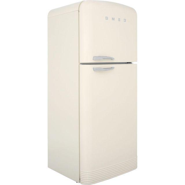 Smeg Right Hand Hinge Free Standing Fridge Freezer Frost Free in Cream