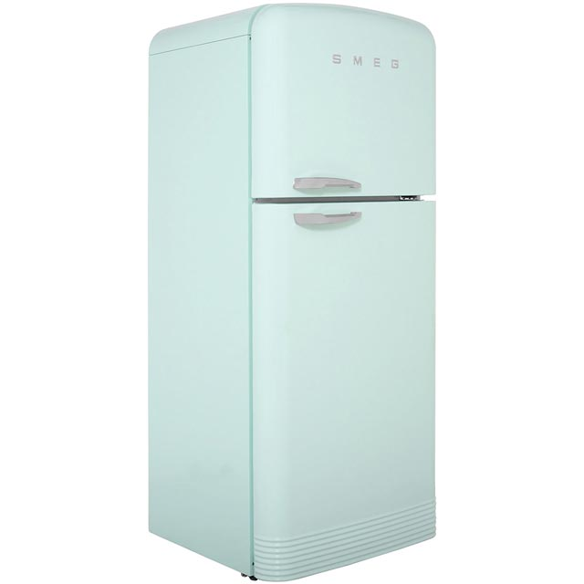 Smeg Right Hand Hinge 80/20 Frost Free Fridge Freezer - Pastel Green - A++ Rated