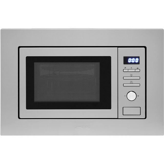 Smeg FMI017X Built In Microwave With Grill - Stainless Steel - FMI017X_SS - 1