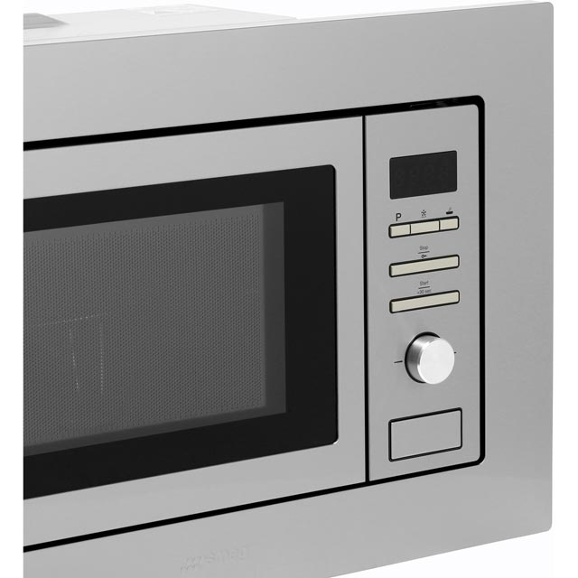 Smeg FMI020X Built In Microwave With Grill - Stainless Steel - FMI020X_SS - 3