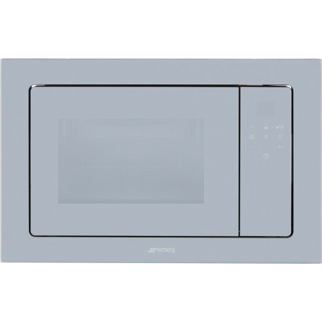 Smeg Linea FMI120S2 Built In Microwave With Grill - Silver Glass