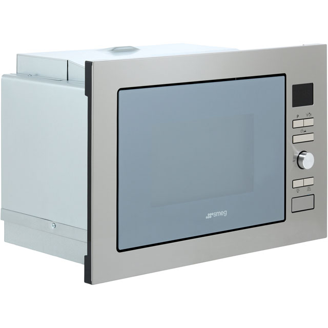 Smeg Cucina FMI425S Built In Microwave with Grill - Silver Glass - FMI425S_SG - 2