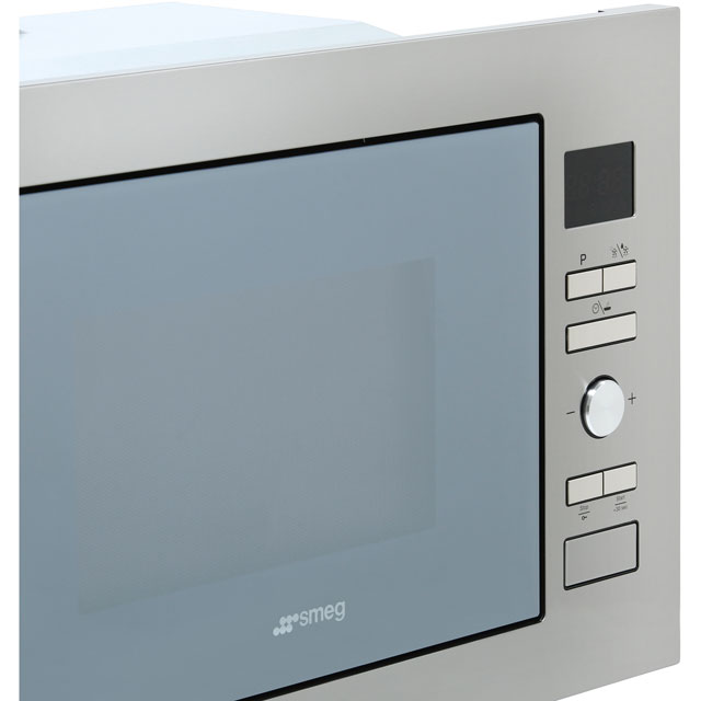 Smeg Cucina FMI425S Built In Microwave with Grill - Silver Glass - FMI425S_SG - 3