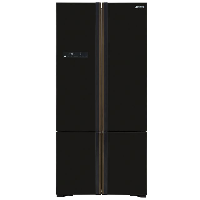 Smeg FQ70GBE American Fridge Freezer - Black - FQ70GBE_BK - 1