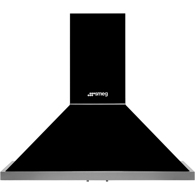 Smeg Portofino KPF9BL Built In Chimney Cooker Hood - Black - KPF9BL_BK - 1