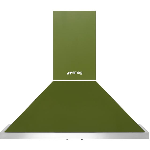 Smeg Portofino 90 cm Chimney Cooker Hood - Olive Green - A+ Rated