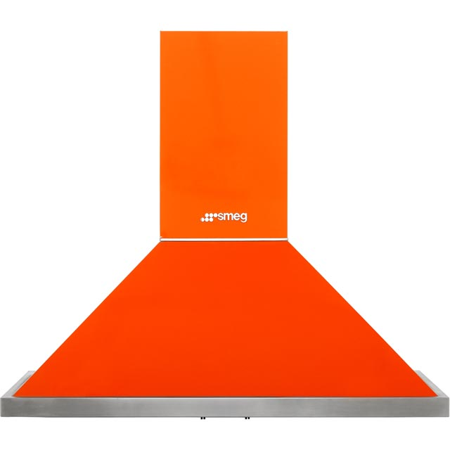 Smeg Portofino KPF9OR 90 cm Chimney Cooker Hood - Orange - A+ Rated - KPF9OR_OR - 1