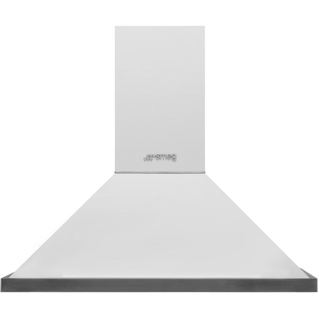 Smeg Portofino 90 cm Chimney Cooker Hood - White - A+ Rated