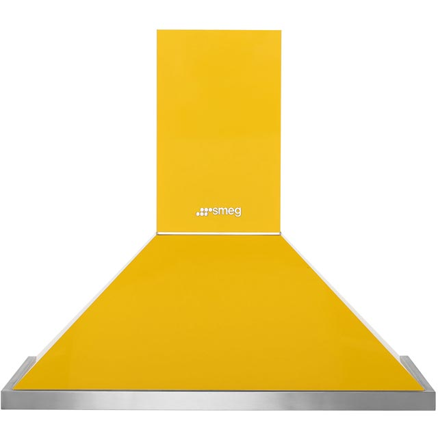 Smeg Portofino KPF9YW 90 cm Chimney Cooker Hood - Yellow - A+ Rated