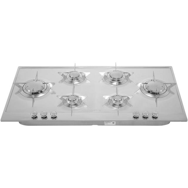 Smeg Piano Design P106ES Built In Gas Hob - Stainless Steel - P106ES_SS - 5