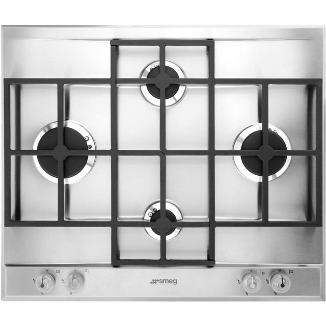 Smeg Linea P1640X Built In Gas Hob - Stainless Steel - P1640X - 1