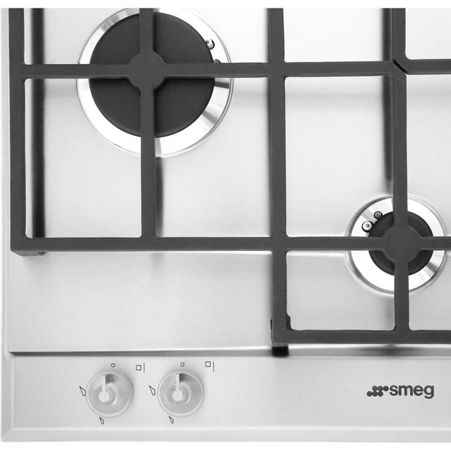 Smeg Linea P1640X Built In Gas Hob - Stainless Steel - P1640X - 2