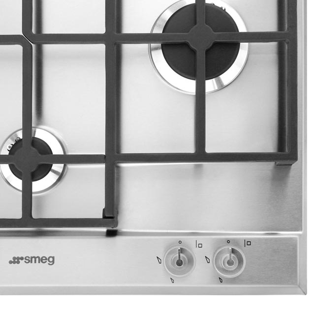 Smeg Linea P1640X Built In Gas Hob - Stainless Steel - P1640X - 3