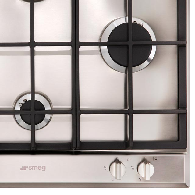 Smeg Cucina P261XGH Built In Gas Hob - Stainless Steel - P261XGH_SS - 5