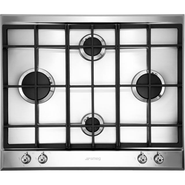Smeg Classic P360XGH 60cm Gas Hob - Stainless Steel - P360XGH_SS - 1