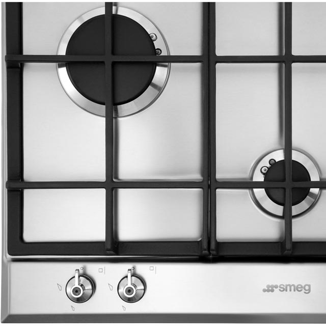 Smeg Classic P360XGH Built In Gas Hob - Stainless Steel - P360XGH_SS - 3