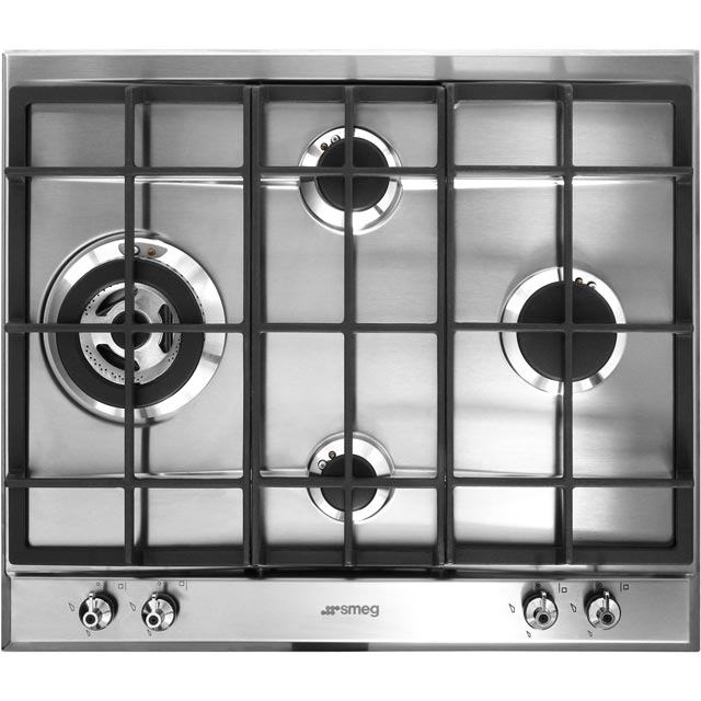Smeg Classic P361XGH 60cm Gas Hob - Stainless Steel - P361XGH_SS - 1