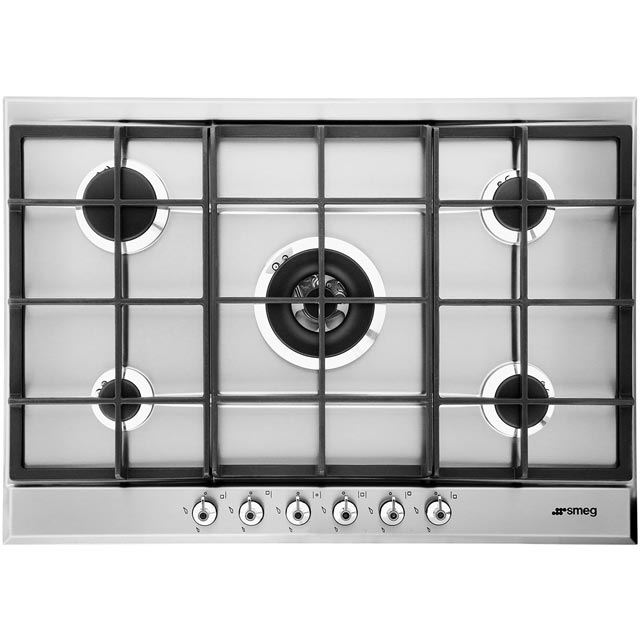 Smeg Classic P372XGH 72cm Gas Hob - Stainless Steel